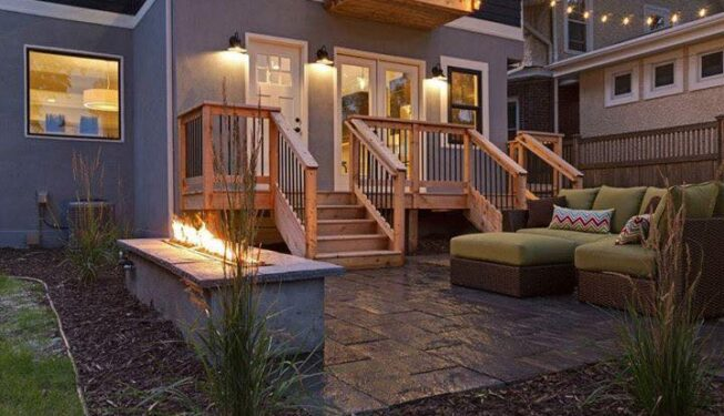 Great looking outdoor landscapes by hillside